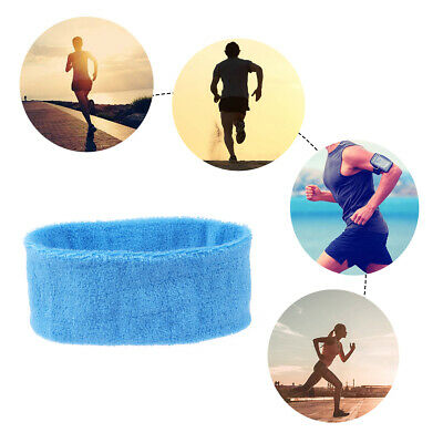 2Pcs Cotton Elastic Stretch Headband Head Hair Band Sports Yoga Gym Plain Color