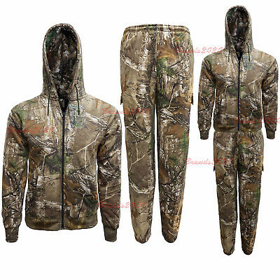 Mens/kids Forest Camouflage Tracksuit Hoodie & Jogger Full Set Fishing 2Yr-6XL