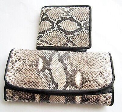 ddc3d95ce Genuine Real Python Snake Leather Skin Woman Bi-fold Clutch & wallet  package 1