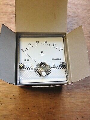 50A DC Panel Ammeter, with current shunt,  Analogue movement brand new tested.