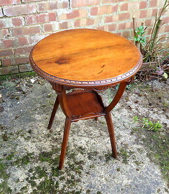VICTORIAN. Occasional Table Two Tier Circular Table with Gadrooned Edge.  c1890