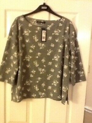 Beautiful Grey Mix Top Size 20 From M&S Bnwt