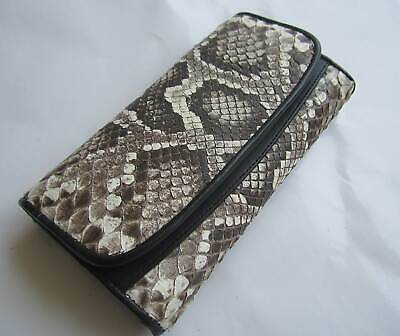ab01038b7 Genuine Real Python Snake Leather Skin Woman Bi-fold Clutch & wallet  package6