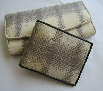 565027bfb Genuine Real Python Snake Leather Skin Woman Bi-fold Clutch & wallet  package 10