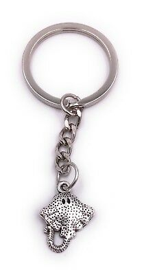 Stingray Killer Rays Blotched Key Ring Pendant Silver Made of Metal