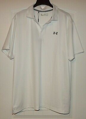 54d27c22 UNDER ARMOUR GOLF Performance Golf Polo Shirt 1242755 Water Size XL ...