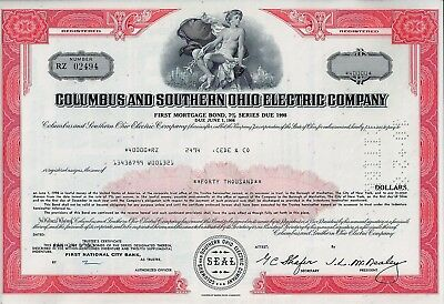 Columbus and Southern Ohio Electric Company, 1983, 7% Bond due 1998 (40.000 $)