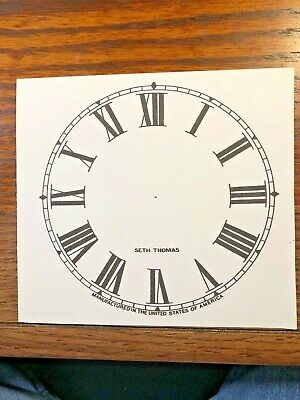 5 Inch Seth Thomas Clock Replacement Paper Dial                (Lot 146)