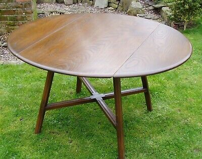 Vintage Ercol Elm & Beech Drop leaf Table. DELIVERY POSSIBLE