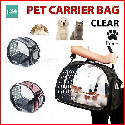 Pet Carrier Bag Portable Clear Cat Dog Comfort Tote Travel Bag Airline Approved