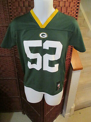 quite nice f6334 b1a74 YOUTH MEDIUM 10-12 NFL Green Bay Packers #52 Clay Matthews ...