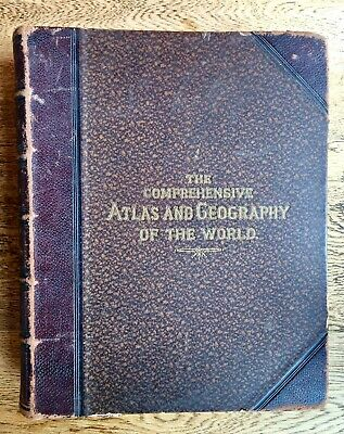 1882 Comprehensive Coloured ATLAS & GEOGRAPHY of the WORLD 67 Maps by Blackie