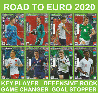 Panini Adrenalyn ROAD TO EURO 2020 POWER UP Goal Stopper Game Changer Key Player