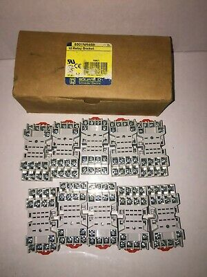 Schnieder Electric Square D 8501NR45 Series B 10A 300V Relay Sockets Lot of 10
