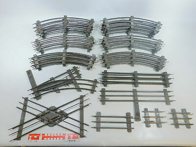 By758-4 #30x Bing etc. 1 Gauge Track / Crossing for Electric Operated, Rusty