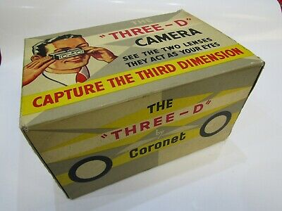 Ultrarare Coronet 3D Camera In Mint Conditions Like New Made In 1953