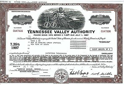 Tennessee Valley Authority, 1989, 7,35% Power Bond Ser.C due 1997 (15.000$)