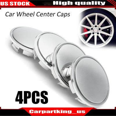 4PCS ABS Chrome 65mm Car Wheel Center Caps Tyre Rim Hub Cap Cover For VW