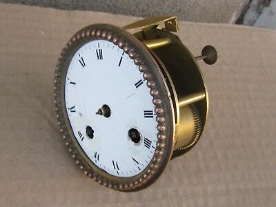 Rare ANTIQUE FRENCH Bronze Clock Movement with Thread Suspension - TO RESTORE