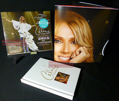 Celine Dion The Best So Far 2018 Tour Edition NEW! Taiwan Notebook + CD + Poster
