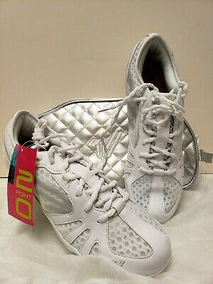 555fd1c27e Varsity Last Pass 2.0 Cheer Shoes Size 14 White NEW IN BAG Cheerleading  shoes