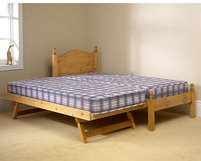 Solid Antique Pine 3Ft Guest Bed Frames Mattress Extra