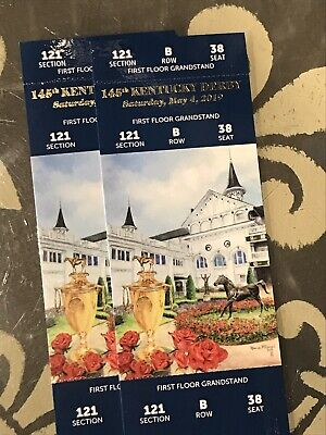 Kentucky Derby 2019 Tickets Section 121 Row B Two Tickets