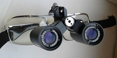 Carl Zeiss 4x 300 Head-worn Loupe Binocular Spectacles Surgical / Dental Loupes