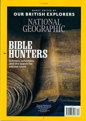 National Geographic Magazine December 2018 ~ Guest Edited By British Explorers ~