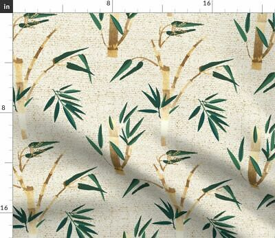 Natural Woven Plants Flowers Nature Vintage Fabric Printed by Spoonflower BTY