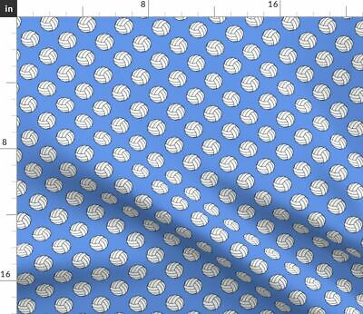 Sport Sports Volleyball Balls On Cornflower Fabric Printed by Spoonflower BTY