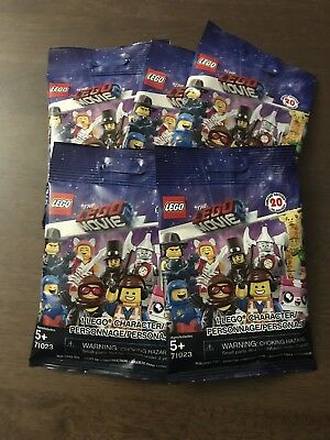 THE LEGO MOVIE 2 71023 Minifigures Lot Of 20 Sealed Blind Bags Packs Unsearched