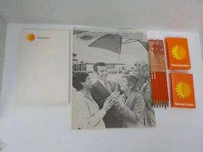 Pan Am Airlines Stationery 12 Pencils Playing Cards Envelopes PanAm Booklet