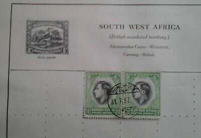 Stamp South West Africa. ...1/2 d.......great postmark