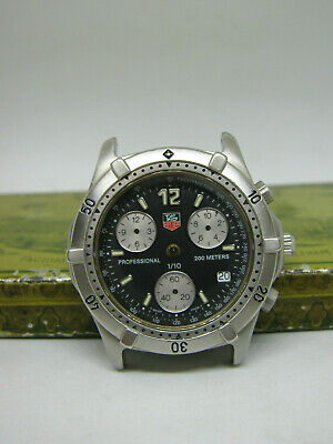 25ab28663f4 Men's Tag Heuer Professional Chronograph For Parts Repair Project CE1111  CK1110