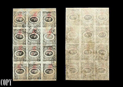 Ancient Persia 1902 Large Sheet Of 12 2Ch Black, Fake