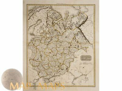 Russia in Europe Detailed old map by Pinkerton 1811