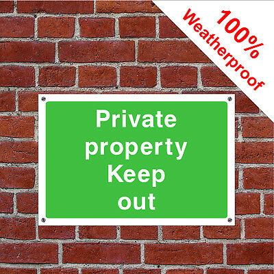Private property keep out sign or self adhesive vinyl sticker COUN0058