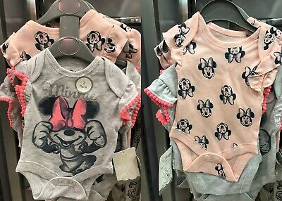Bnwt Primark Baby Girl Disney Minnie Mouse Pink 2 Piece Sleep Vest Set