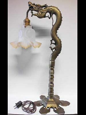tolle antike Bronze Tischlampe-Drachen-Asia-antique bronze table lamp-dragon
