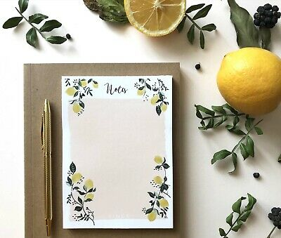 Notepad To do List Grocery List Notes Lemon Pattern Shopping list Notes List Pad