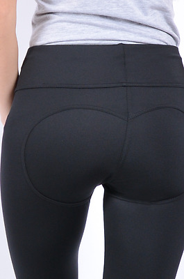 Leggings Push Up Women High Waist Pants Black Shaping Effect Fitness XS S M L XL
