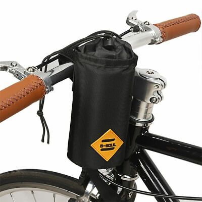 Bike Handlebar Stem Bag Food Snack Storage Water Bottle Holder Bikepacking