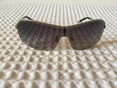 Miu Miu Silver Metal With Crystals Sunglasses