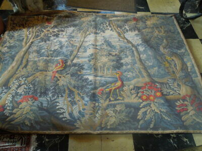 Pastoral Tapestry,  20th C, 55 x 75, backed and has hanging rings. French/Belgiu