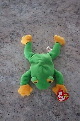 1ec92142df2 Collectors Ty Beanie Baby Babies Smoochy The Frog (Retired 1997) RARE Tag  Errors