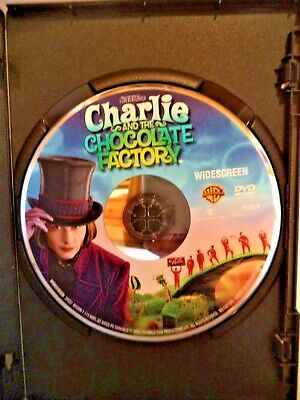 Charlie And The Chocolate Factory DVD Widescreen Johnny Depp, No Disc Scratches