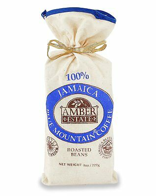 227g-(8 oz) Whole Bean Roasted-100% Blue-Mountain-Coffee-Jamaica-Coffee Roaster