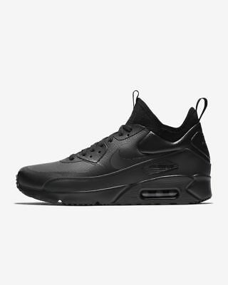 huge selection of 757f4 3999c NIKE MENS AIR MAX 90 ULTRA MID WINTER Black / Anthracite Trainers - uk 7 -  eu 41