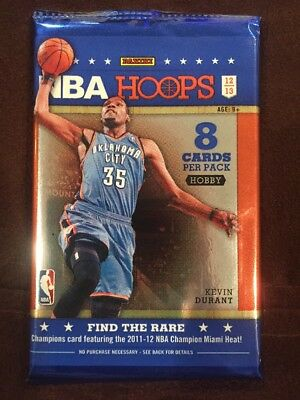 d9688871c85 2012-13 NBA Hoops HOBBY Pack (Kyrie Irving Anthony Davis RC Steph Curry Auto